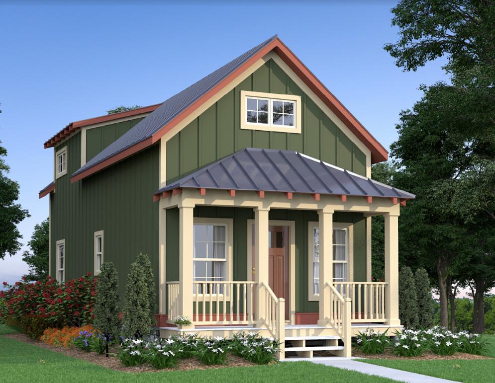 Heartland Cottage - Mountain House Plans